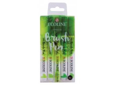 ECOLINE BRUSHPEN SET 5 GREEN