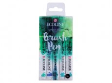 ECOLINE BRUSHPEN SET 5 GREEN BLUE